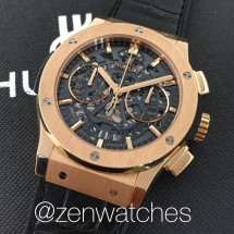 Hublot AeroFusion Rose Gold Skeleton Chronograph 45mm