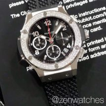 Hublot Big Bang Steel Chronograph with Diamond Bezel 41mm
