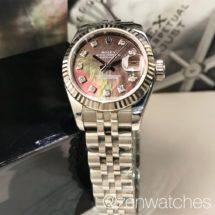 Rolex Ladies Datejust Ref.179174 Dark Mother-of-Pearl Diamond Dial 26mm