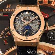 hublot classic fusion aerofusion skeleton moonphase king gold 45mm
