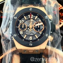 hublot big bang unico king gold ceramic flyback chronograph 45mm
