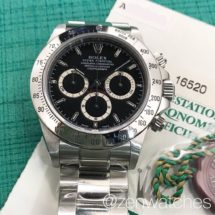 Rolex Discontinued Zenith Daytona Ref.16520 Black Dial