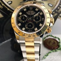 Rolex Half-Gold Daytona Ref.116523 Black Diamond Dial LNIB