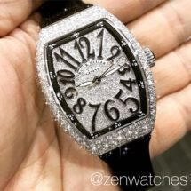 Franck Muller Ladies Vanguard V32 Full Pave Diamond Automatic