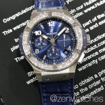 Hublot Big Bang Steel Blue Chronograph with Diamond Bezel 41mm